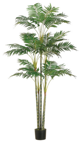 silk plants direct areca palm tree, pack of 2 - tropical