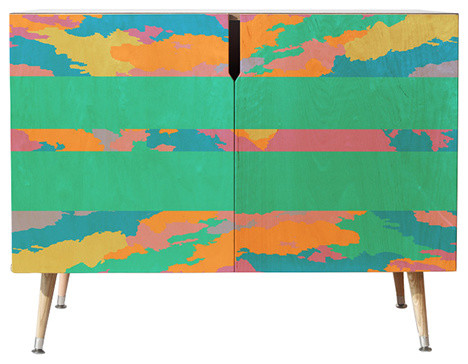 Rosie Brown The Color Green Credenza, 38x20 by Deny Designs