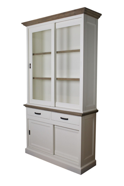 Provence Display Cabinet, Grey Oak