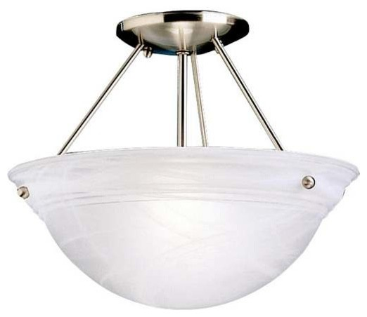 Kichler Cove Molding Top Glass Ceiling 2-Light, Brushed Nickel.