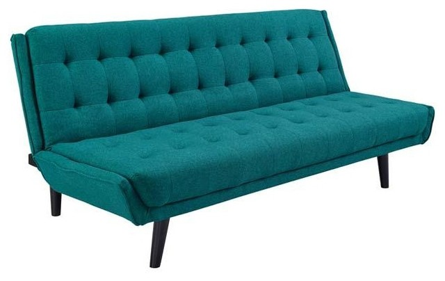 Manten Tufted Convertible Fabric Sofa
