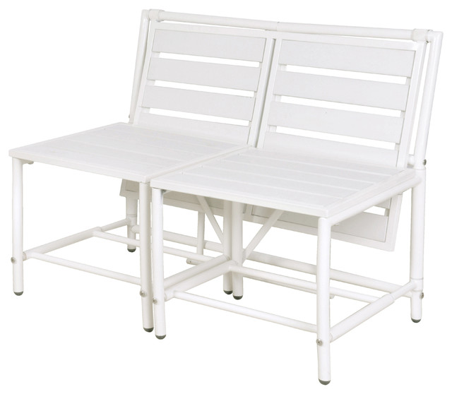 Awe Inspiring White Convertible Bench Unemploymentrelief Wooden Chair Designs For Living Room Unemploymentrelieforg