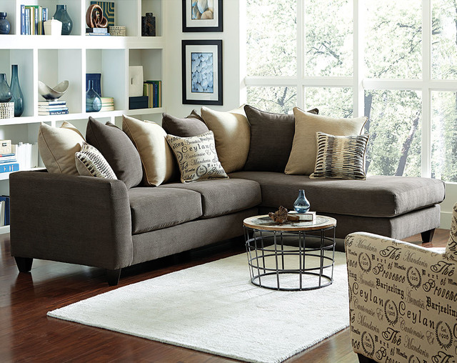 Corey 2 Piece Sectional Sofa traditional-living-room : american freight sectionals - Sectionals, Sofas & Couches