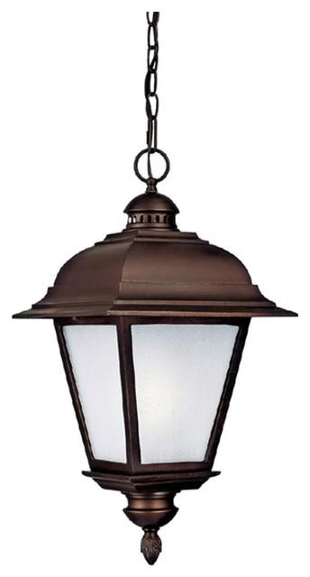 Traditional Outdoor Pendant Lighting : Brookwood light outdoor pendant chandelier in black