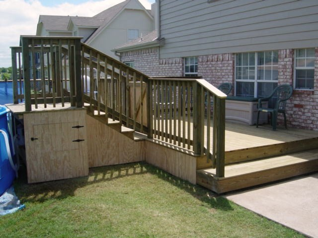 Decks altro di phoenix builders of tulsa llc for Above ground pool decks tulsa