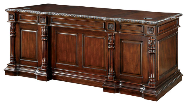 Exceptionnel Stinson Traditional Office Desk, Cherry