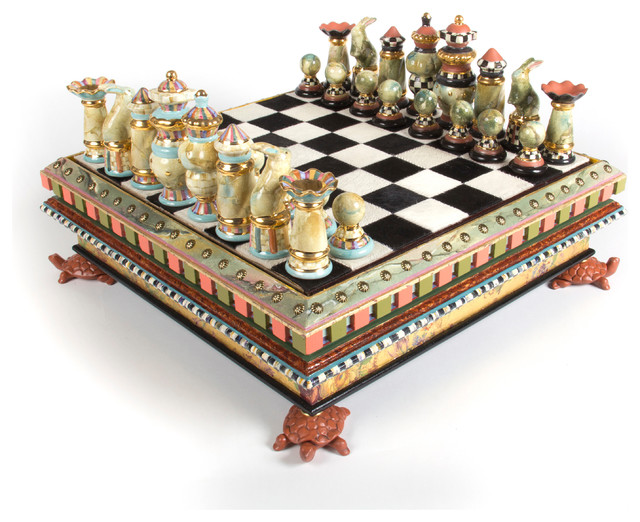 chess set | mackenzie-childs - eclectic - home decor - other -