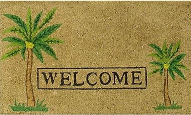 Home And More 12052 Palm Welcome Doormat.