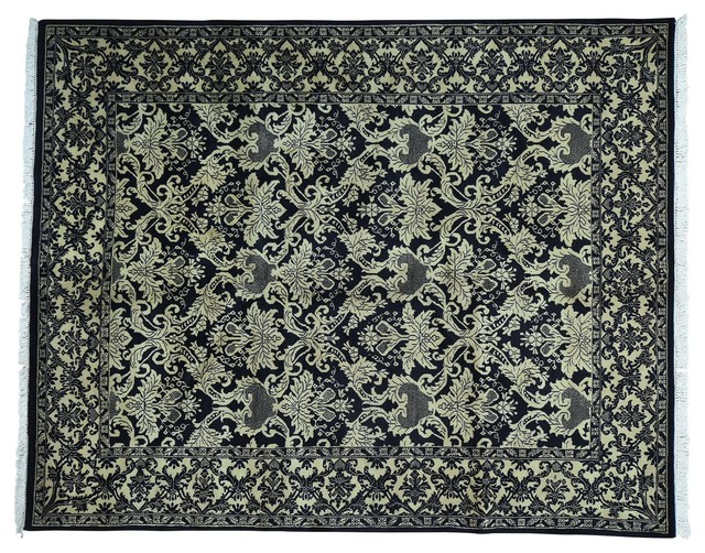8 X10 Handmade Pure Wool William Morris Design Oriental Rug