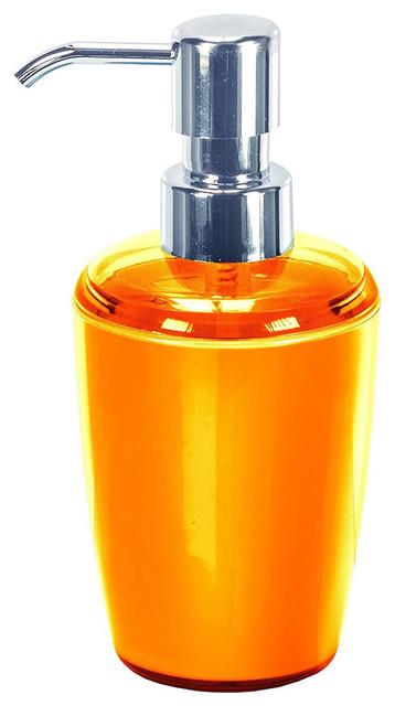 acrylic bathroom accessories joker orange soap dispenser contemporary bathroom accessories - Bathroom Accessories Orange