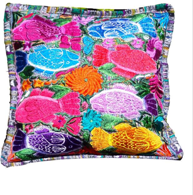 Eclectic Pillow Cases : Fresco Fabrics - Deep Sea Fish Throw Pillowcase & Reviews Houzz