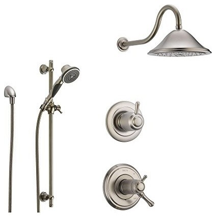 Delta Cidy Stainless Steel Shower System With Thermostatic Handle 3 S