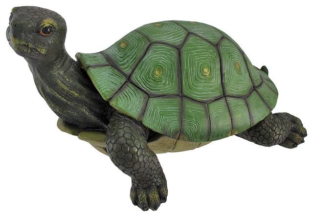 gorgeous lifelike tortoise garden statue turtle decor  beach, Garden idea