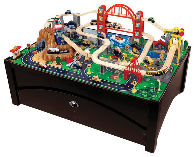 shop houzz kidkraft kids children fun play toy metropolis train table and furniture set kids. Black Bedroom Furniture Sets. Home Design Ideas