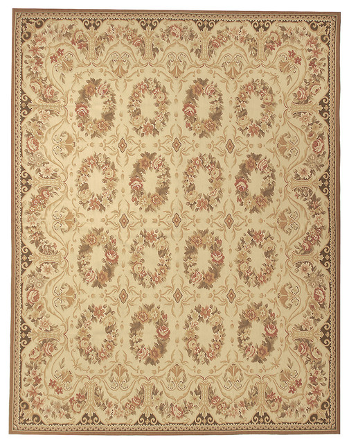 Aubusson Bayonne Cream 10x14 Area Rugs By Due Process