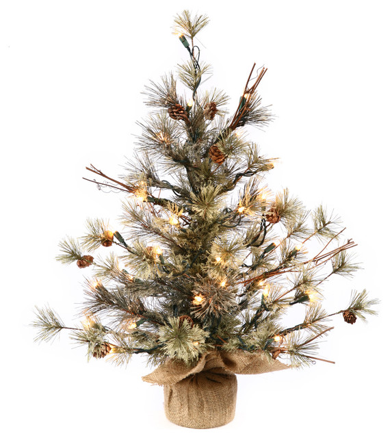 dakota pine artificial christmas tree 36 clear lights - Rustic Artificial Christmas Tree