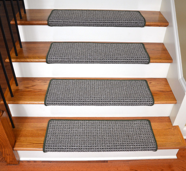 Peel And Stick Non Skid Bullnose Carpet Stair Treads