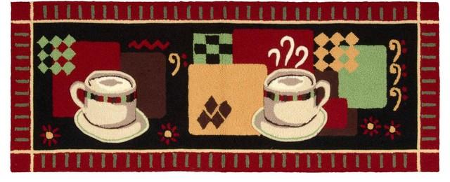 "Everywhere Coffee Accent Rug, Black, 1&x27;10""x4&x27;6""."