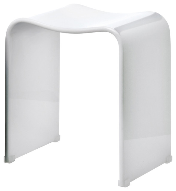 Dwba Backless Acrylic Shower Bench White