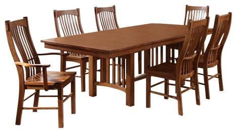 Signature Design By Ashley Laurelhurst Casual Dining Room Set Craftsman  Dining Sets
