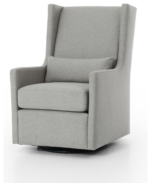 Stanton Glider Chair in Fedora Pewter