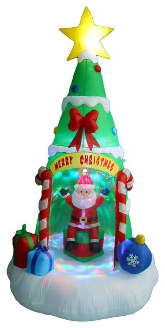 Christmas Tree With Santa Claus 8 39 Contemporary