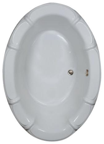 """68""""l X 48""""w Watertech Oval Bathtub, 68"""", White."""