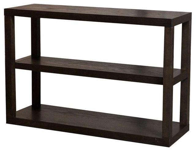 West Elm Low Parsons Bookshelf In Chocolate