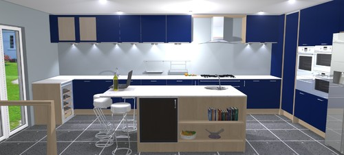 Decko Blue Kitchen Tiles