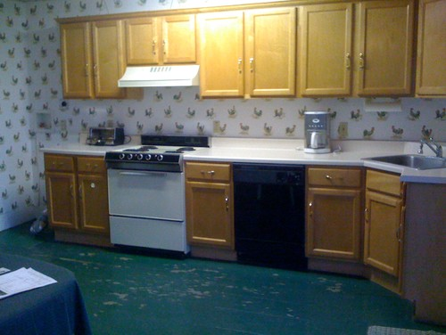 low-budget ugly kitchen makeover
