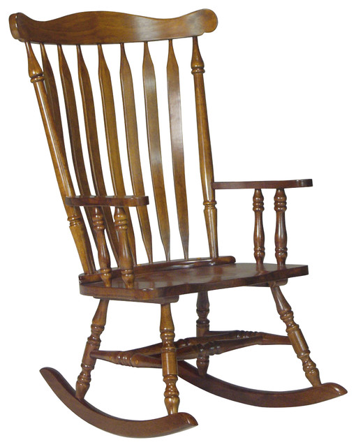 ... Wood Rocker - Traditional - Rocking Chairs - by International Concepts