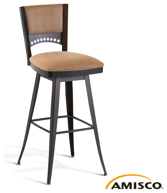 Amisco Lilly Swivel Stool Modern Bar Stools And