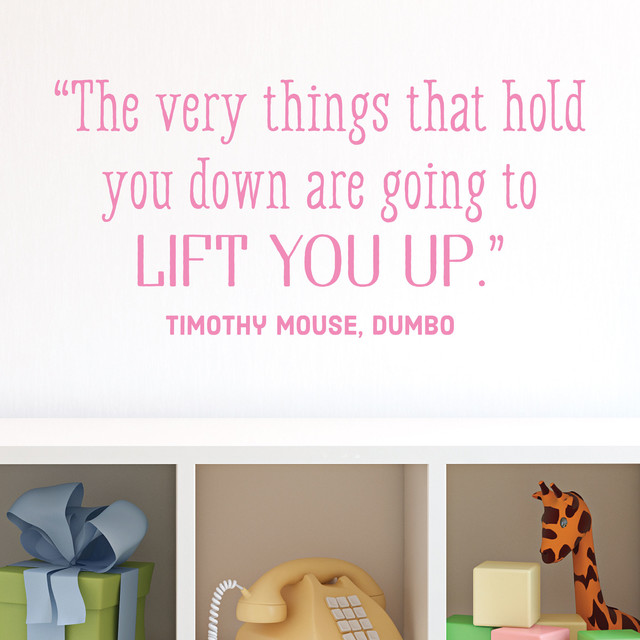 Dumbo Quotes Fascinating Lift You Up Dumbo Wall Quotes Decal  Contemporary  Wall Decals