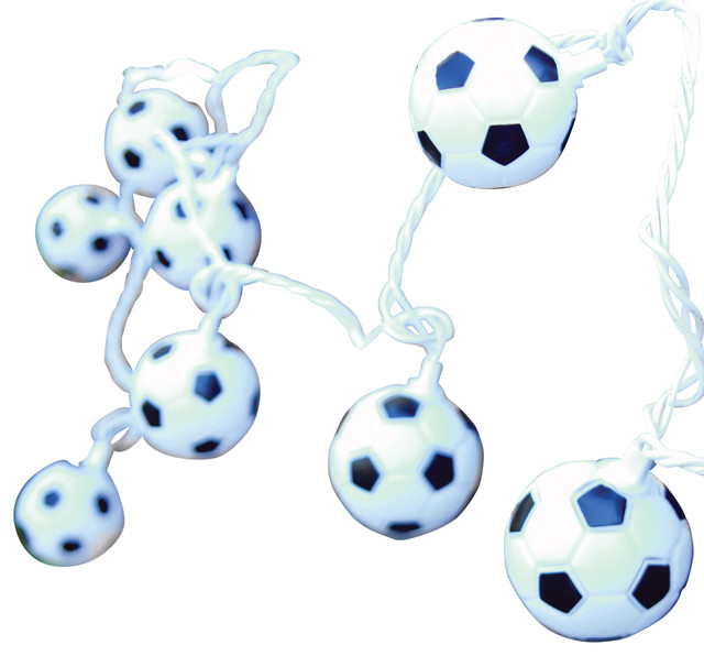 Soccer Ball String Lights 10 Count Contemporary Outdoor Rope And By Dei