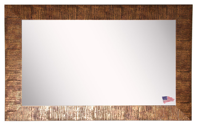 "American Made Rayne Safari Bronze Double Vanity Wall Mirror, 33""x68""."