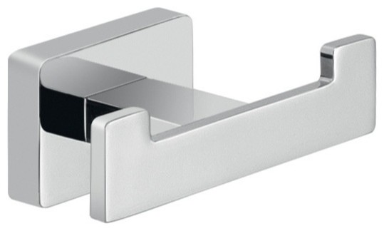 Atena Wall Mounted Double Hook  Chrome contemporary robe and towel. Atena Wall Mounted Double Hook  Chrome   Contemporary   Robe