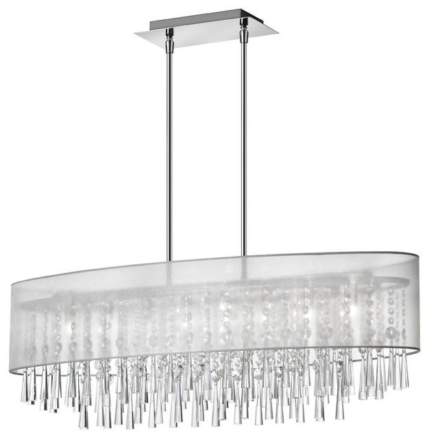 Josephine 8-Light Crystal Oval Chandelier - Contemporary ...