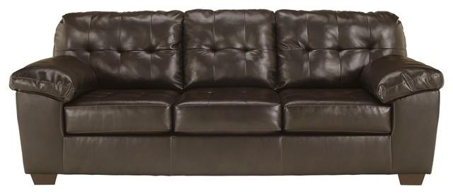 Pleasing Signature Design By Ashley Furniture Alliston Queen Sofa Sleeper In Chocolate Creativecarmelina Interior Chair Design Creativecarmelinacom