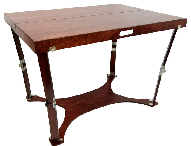 Spiderlegs Hand-Crafted Picnic Folding Table, Mahogany.