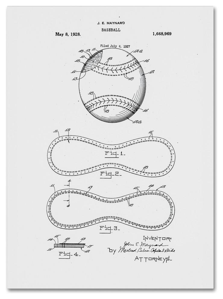 1883 Baseball Catchers Mask Patent Print Art Drawing Poster 18X24