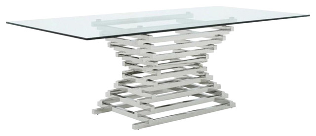 Modrest Crawford Modern Rectangular Glass Dining Table Contemporary Dining Tables By Vig Furniture Inc