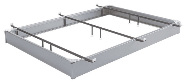king size sturdy hotel style metal bed base bed frame matte metal finish contemporary - Sturdy King Size Bed Frame