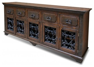 Rustic Reclaimed Solid Wood Console Table - Mediterranean - Buffets And Sideboards - by Crafters ...