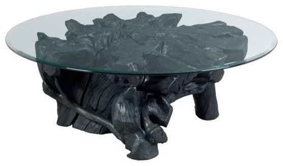 Hammary Hidden Treasures Charred Rootball Cocktail Table Contemporary Coffee  Tables