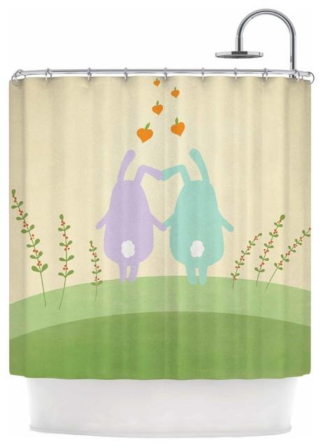 Cristina Bianco Design Cute Bunnies Shower Curtain