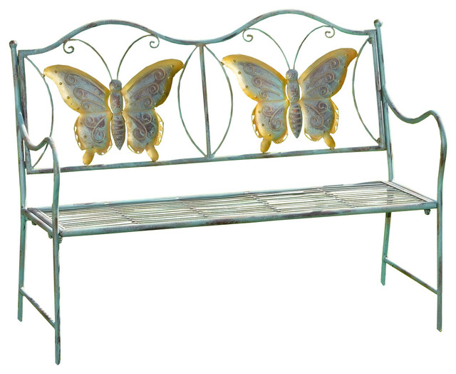 Junior Metal Butterfly Bench, Kids Park Bench, Butterflies For Yard Or  Garden Farmhouse