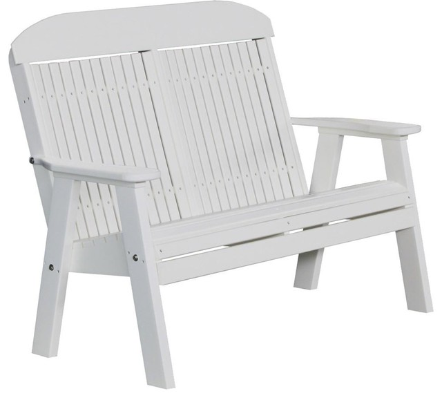 Excellent Luxcraft 4 Classic Highback Recycled Plastic Bench White Unemploymentrelief Wooden Chair Designs For Living Room Unemploymentrelieforg