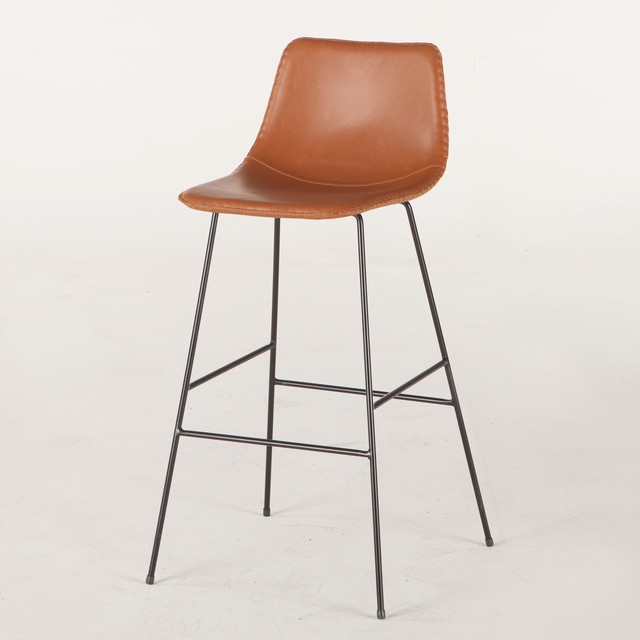 Incredible 18 W Retro Bar Chair Vegan Leather Form Fitting Seat Slender Metal Frame Onthecornerstone Fun Painted Chair Ideas Images Onthecornerstoneorg