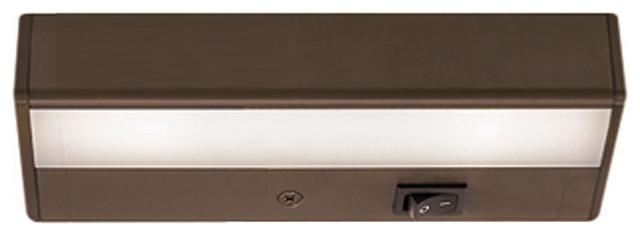 "WAC Lighting LEDme 8"" 120V Light Bar 2700K Warm White in Brushed Bronze"