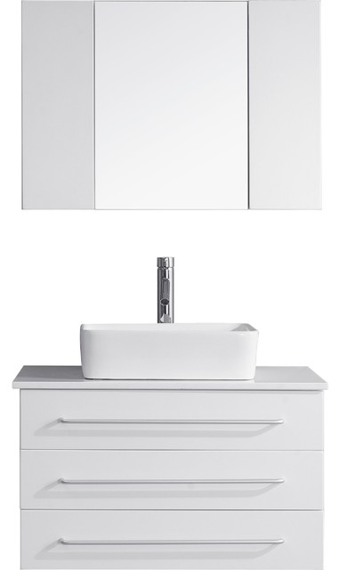 """... and Polished Chrome, 32"""" modern-bathroom-vanities-and-sink-consoles"""